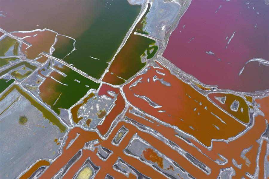 【航拍】空中之眼瞰鹽湖