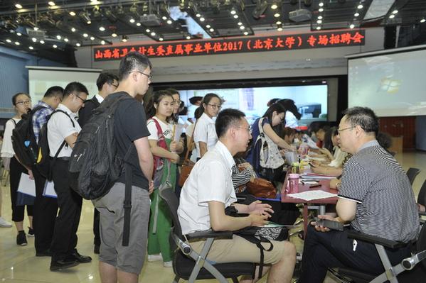 山西医药卫生单位在京招聘 要打破唯学历论