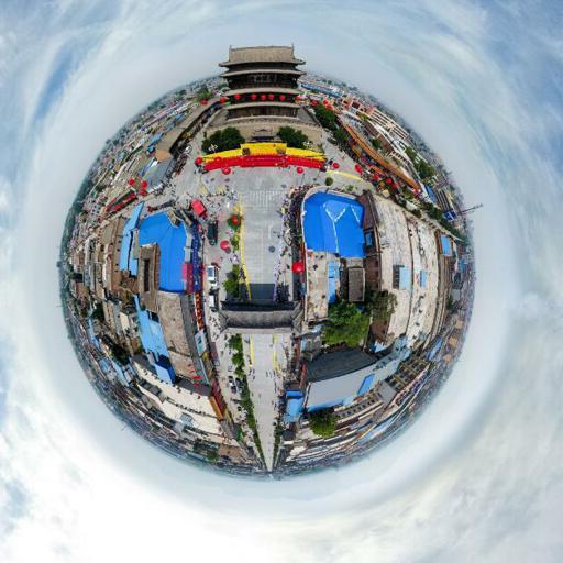 【VR全景】新華網帶你空中俯瞰國家歷史文化名城代縣