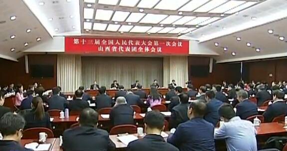 山西代表團審議國務院機構改革方案