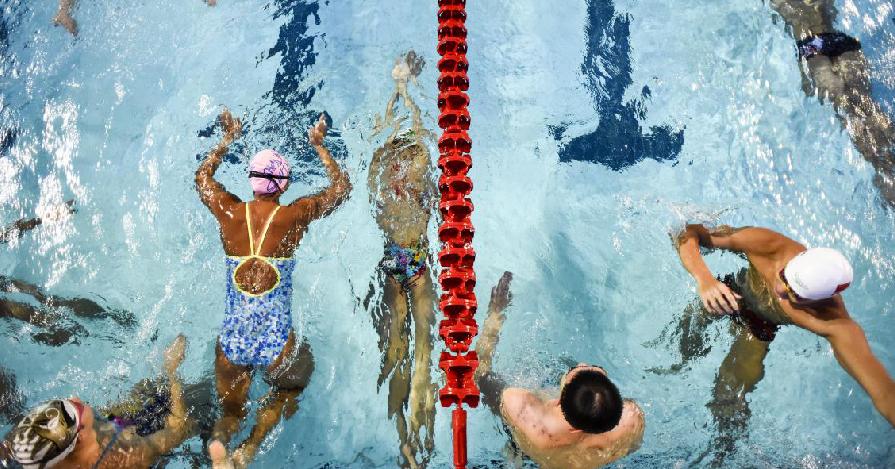 全国游泳冠军赛开赛在即 直击运动员备战