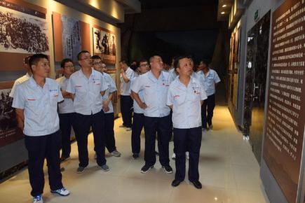 靜興高速建設者到晉綏邊區革命紀念館參觀學習