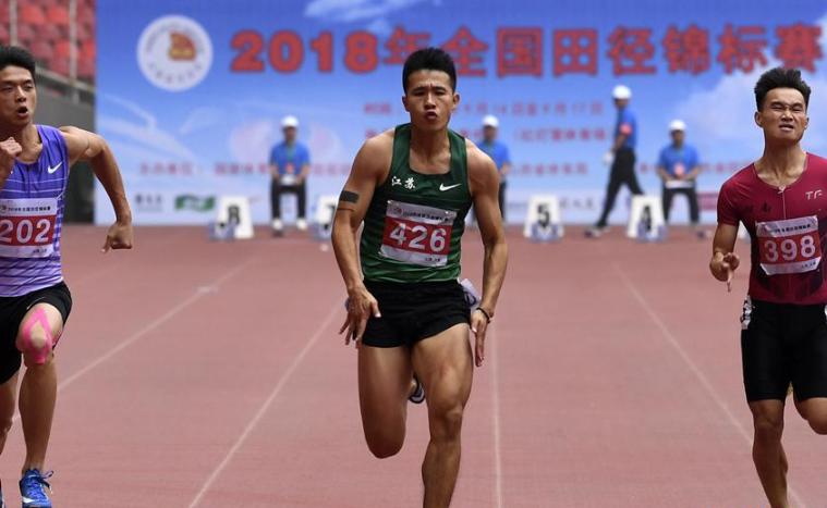 全國田徑錦標賽許周政男子百米奪冠