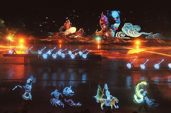 《如夢晉陽》 每晚在太原晉陽湖劇場常態化演出