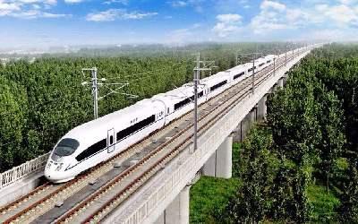 大張高鐵主體工程正線鋪軌施工完成