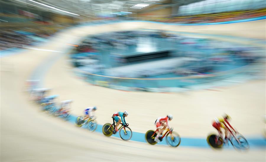 場地自行車——體校甲組女子麥迪遜賽決賽賽況