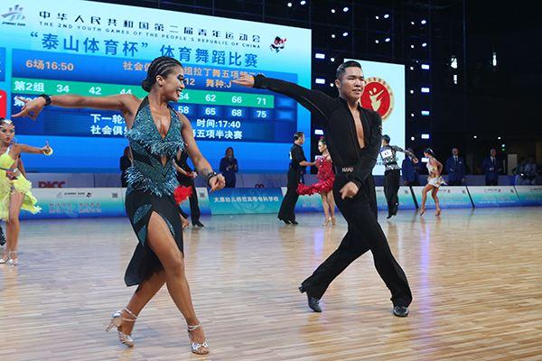 二青會體育舞蹈比賽開賽