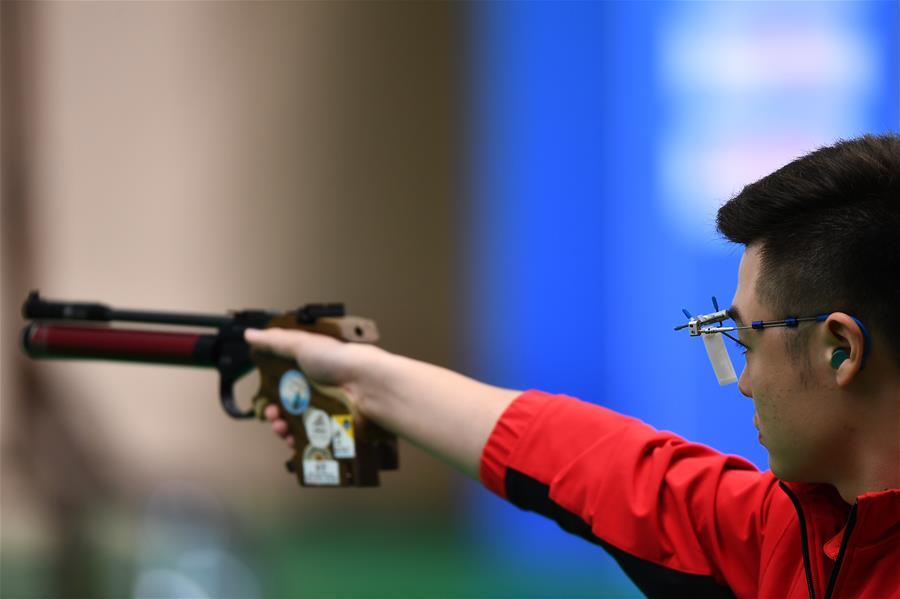 射擊——體校甲組男子10米氣手槍個人決賽賽況