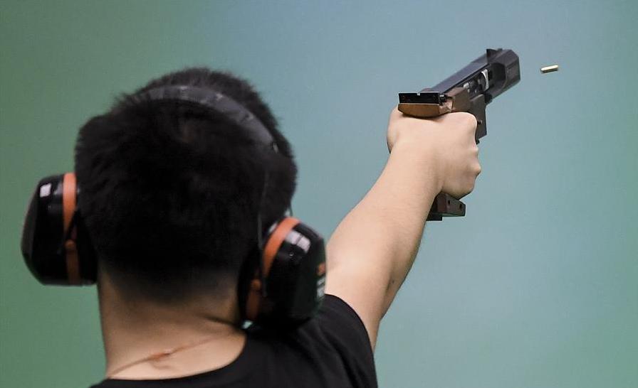 射擊——體校甲組男子25米手槍速射個人決賽:劉楊攀奪冠
