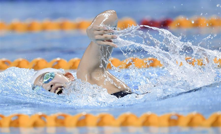 遊泳——體校乙組女子800米自由泳決賽賽況