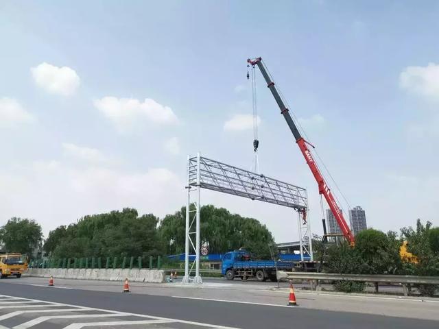 山西省高速ETC門架吊裝全部完成