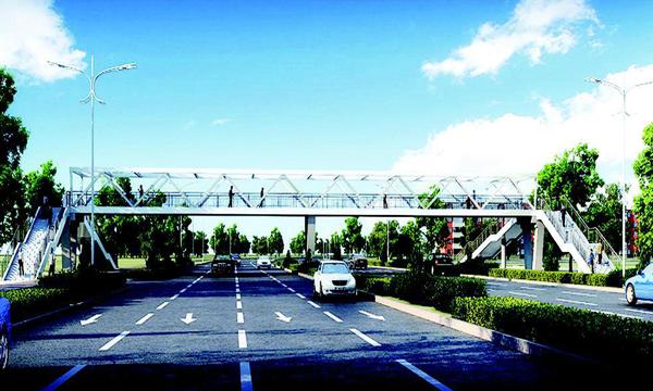 太原多座人行天橋設計方案亮相