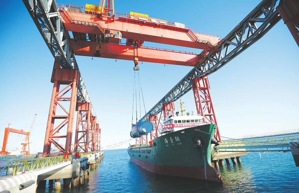 太重(天津)濱海碼頭重件班輪航線啟動
