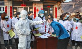 柳林縣:大學生志願者走在抗擊疫情第一線