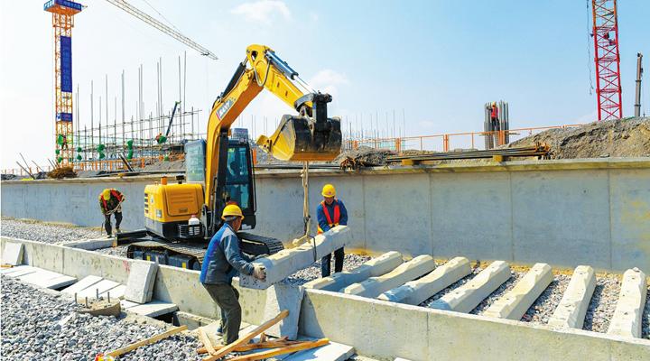 太焦高鐵高平東站緊張建設
