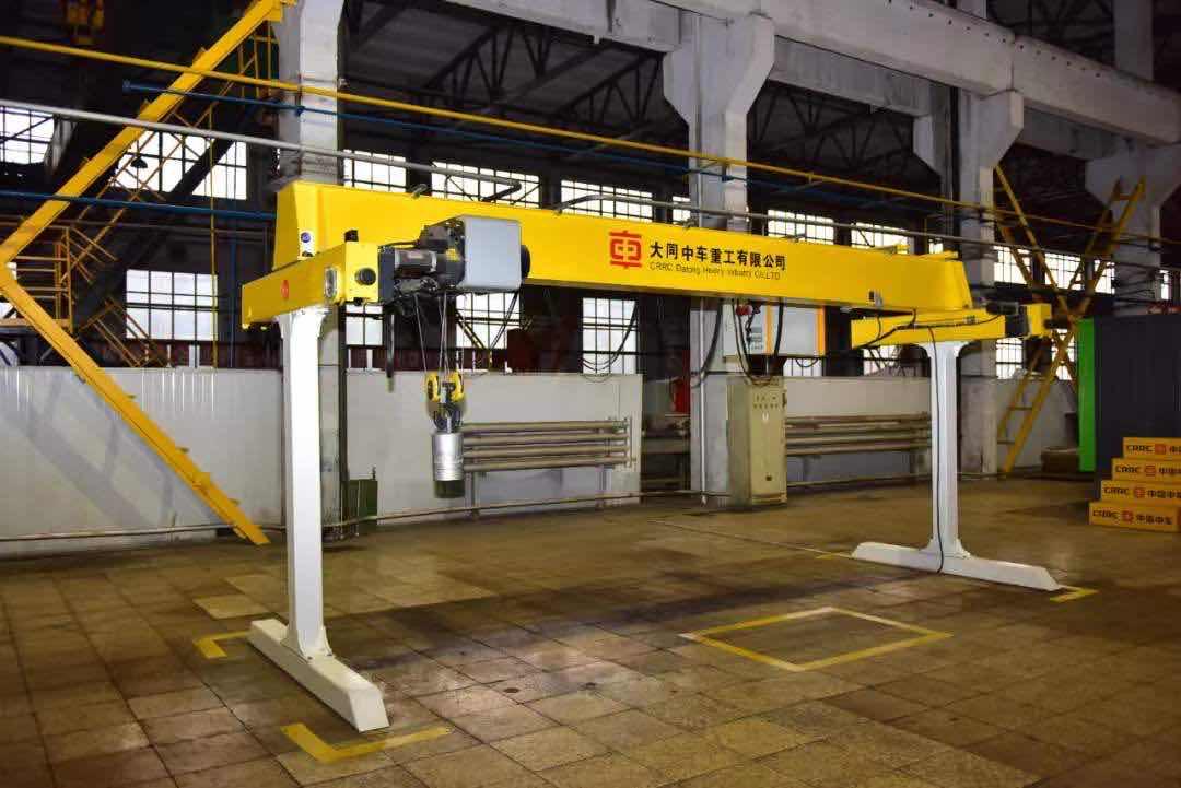 大同中車重工公司成功制造新型起重機