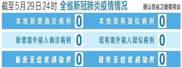 截至5月29日24時 山西省新冠肺炎疫情情況