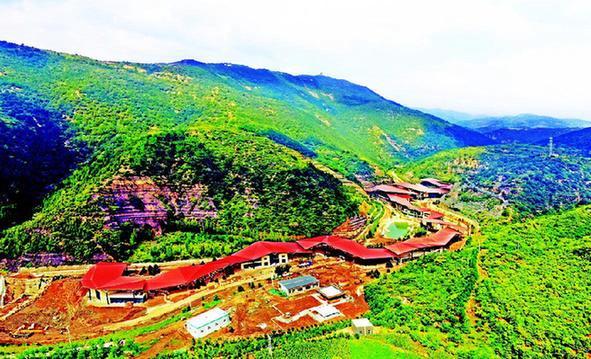 天龍山窯頭村遊客服務中心國慶可完工
