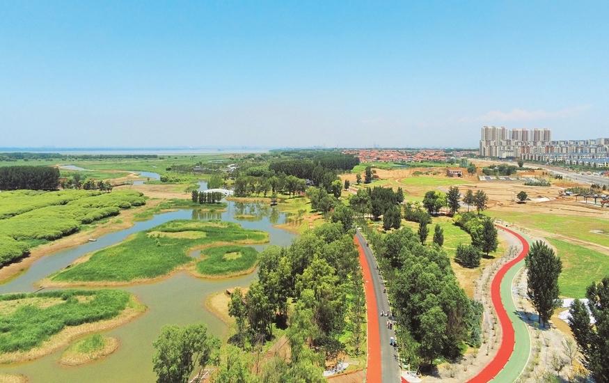漳澤湖濕地公園美景