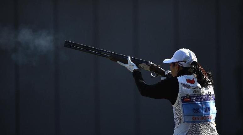 射擊全國錦標賽(飛碟項目):女子雙向資格賽50靶賽況