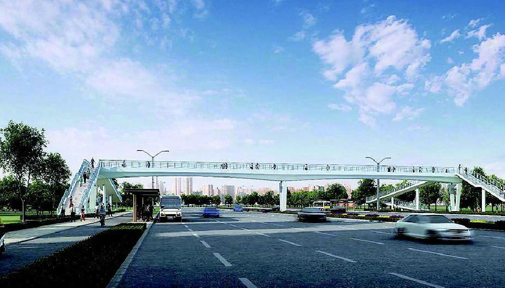 太原市將新建8座人行天橋
